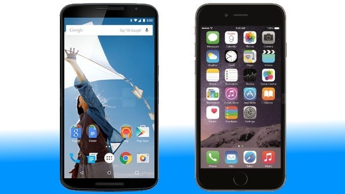 iPhone 6 Plus и Nexus 6