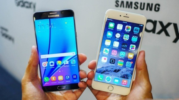 Samsung Galaxy Note 4 и iPhone 6Plus