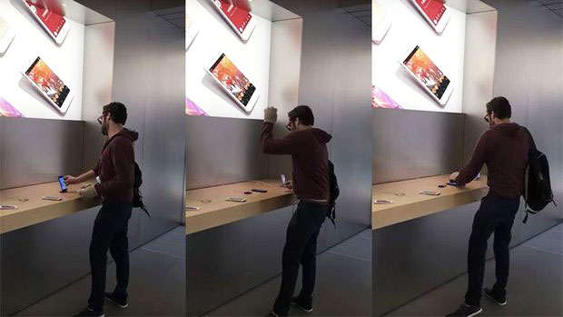погром в магазине Apple