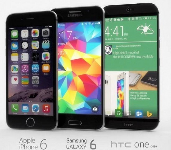 HTC ONE (M9), Samsung Galaxy S6 и iPhone 6