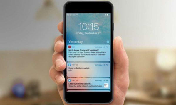 содержимое уведомлений на iPhone